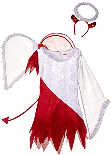[Disguise Sassy Scene Heavenly Devil Deluxe Tween Costume, Large (10-12)] (Devil Costume For Girls)