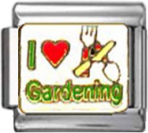 Stylysh Charms Garden I Love Gardening Enamel Italian 9mm Link GA045