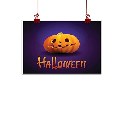 Mannwarehouse Light Luxury American Oil Painting Halloween Pumpkin Carved Portrait with Spooky face Home and Everything 28