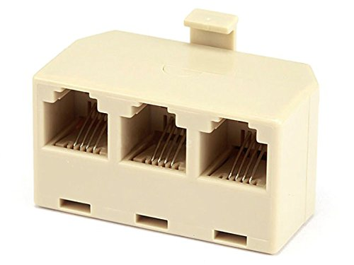 Three Way Adapter Phone - Monoprice 6P4C, 1M/3FT Adapter (107293)