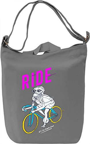 Ride Borsa Giornaliera Canvas Canvas Day Bag| 100% Premium Cotton Canvas| DTG Printing|