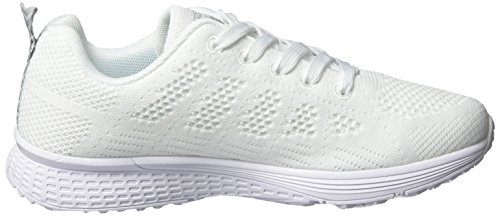 Gimnasio Blanco Mujer de Zapatos para Correr Deportivos Running Zapatillas Mujer Plano Deportes UMmaid v6Sq7xFwF