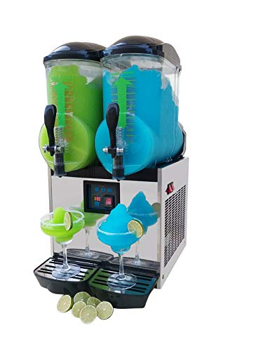 Brand : BRAVO ITALIA 2 bowls slushie machine 3.2 gallons each bowl , 100 CUPS ,COMMERCIAL GRADE MACHINE ,Margarita Machine , Slushie Maker , Margarita Maker , Slushy Machine