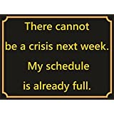 MOUSE MAT 4069 THERE CANNOT BE A CRISIS NEXT WEEK BRAND NEW FUNNY FUNNY QUALITY FUN MOUSE MAT