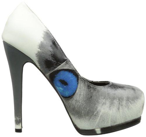Iron Fist Pussy Footing Platform - Cerrado de material sintético mujer blanco - Weiß (offwhite)