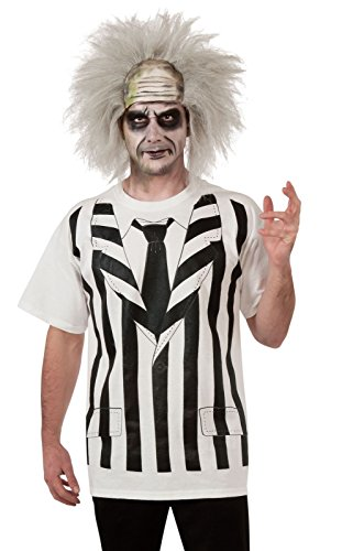 Rubie's Costume Beetlejuice Costume Shirt And Wig, Multi, (Beetlejuice Character Costumes)