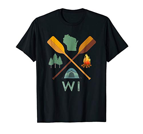 Wisconsin Camping, Canoeing, and Hiking, Nature T-Shirt