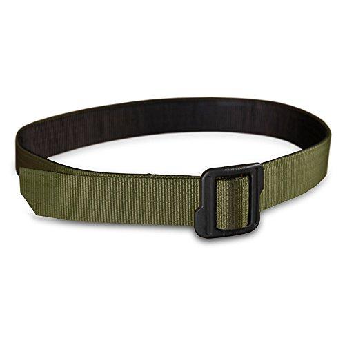 Gun Belt, Nylon, Green and Black Reversible by (Metallic Reversible Belt)
