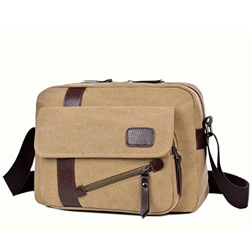 Canvas Shoulder Messenger Zaino Da Viaggio Zaino Sling Bag Scuri,1-OneSize