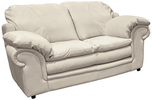 Omnia Leather Santa Barbara 2 Cushion Loveseat in Leather, Standard No Nail Head, Softstations Ice