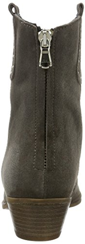 Mentor Damen Back Zip Ankle Boot Cowboy Stiefel Grau (Dark Grey)