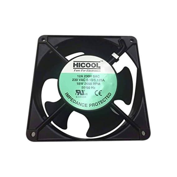 JIGO Axial UPS Cooling Fan 120mm, 230 Volts AC 4 inch