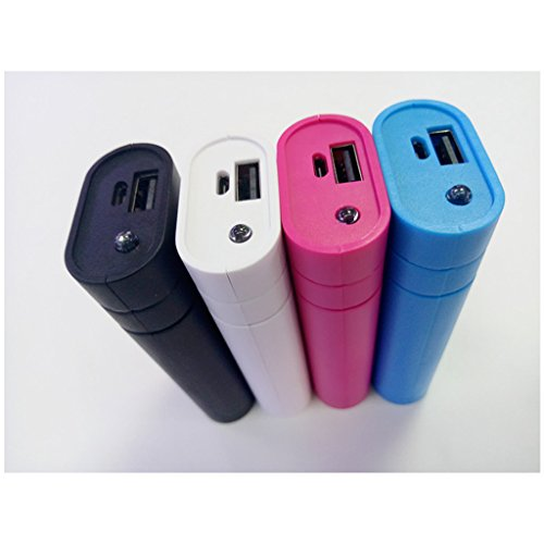 MagiDeal Power Bank Case USB 2X 18650 Cargador de Batería para Teléfono Mp3 - Blanco Blanco