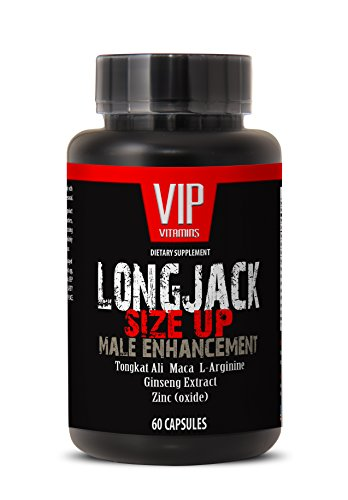 Longjack Tongkat Ali - Size Up 2170mg - Male Enhancement - Natural Testosterone Booster - Premium Quality (1 Bottle 60 Capsules)