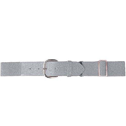 (Augusta Sportswear Elastic Baseball Belt, One Size, Silver Grey)