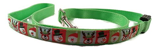 LED Dog Leash Christmas Pattern Print Three Modes Slow Flashing Fast Steady Lights Pet Safety Night Walking Flexible 4 Feet Small Large Review