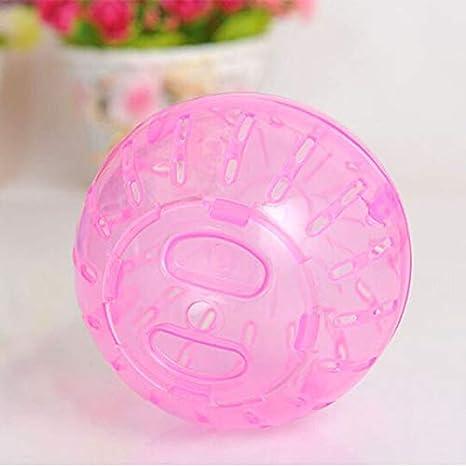 WMPRTT Hamster Bola de Ejercicio Plástico Pequeña Mascota Jerbo Juguete Correr Actividad Mini Bola Colores Variados, 12 cm 13 cm (10cm,Pink)