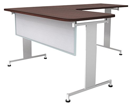 Obex 24X66P-A-W-MP 24'' Polycarbonate Desk and Table Mounted Modesty Panel, White, 24'' x 66''