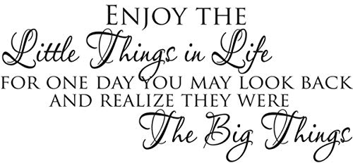 Empresal Enjoy The Little Things in Life Wall Sticker Decals Quotes Inspirational Decal (The Best Things In Life Wall Decal)