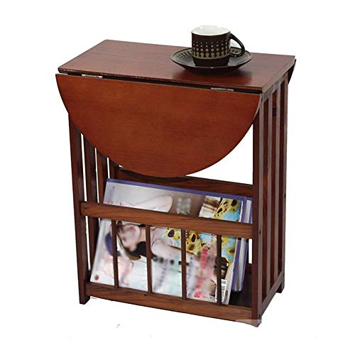 DBSCD Side Table Desk End Bedside Wooden Book Shelf Magazine Table Small Desk Coffee Table Coffee Table A Few Corners Sofa (Color : Brown, Size : 45 21 36cm)