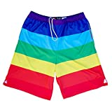 Rainbow Flag Lacrosse Sublimated Shorts, Rainbow, Medium