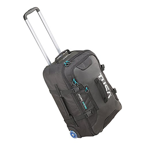 Tusa Small Carry-On Roller Bag with Telescoping Handle and Compression Straps 47 Liter Capacity