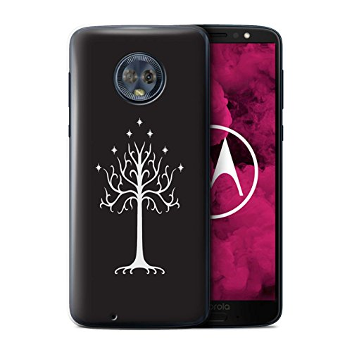 Phone Case for Motorola Moto G6 2018 LOTR Fantasy Inspired White Tree Gondor Design Transparent Clear Ultra Slim Thin Hard Back Cover (Lord Of The Rings Wallet Phone Case)