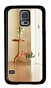Samsung Galaxy S5 Indoor Flower Decoration Design PC Custom Samsung Galaxy S5 Case Cover Black