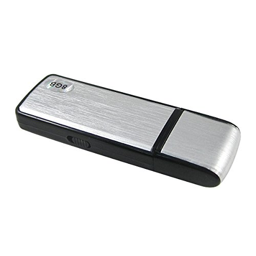 Spy Voice Recorder-8GB USB Digital Audio Voice Recorder Best Voice Recorder-Portable Recording Device-USB Audio Recorder-No Flashing Light When Recording-Use as Dictaphone-Windows and Mac Compatible