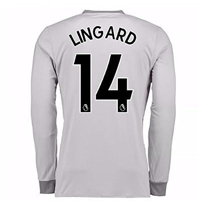 on sale f4e5c b4b7d 2017-2018 Man United Long Sleeve Third Shirt (Lingard 14 ...