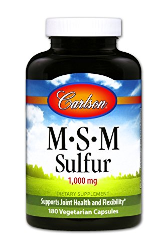 Carlson MSM Sulfur 330 mg, Joint Health & Flexibility, 180 Vegetarian Capsules by Carlson