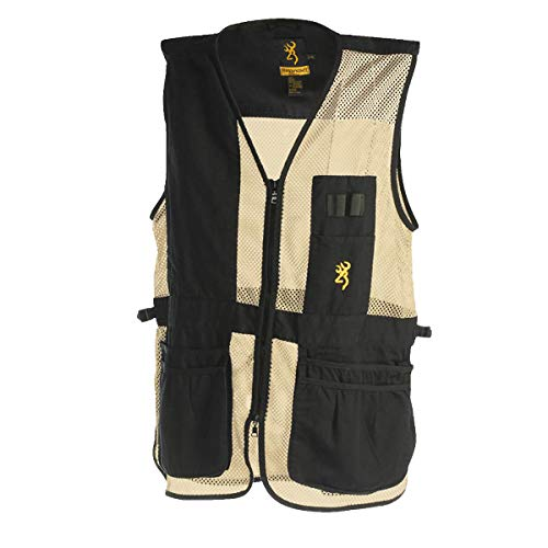 Browning Men's Trapper Creek Mesh Shooting Vest Black/Tan (2XL) by Browning (Image #1)