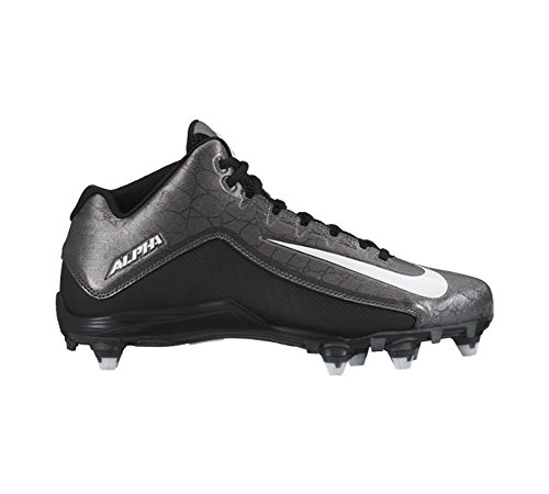 3 Cleats Grey Dark 4 Men's Black White 2 Metallic Strike Nike Alpha Football WP0q6WI