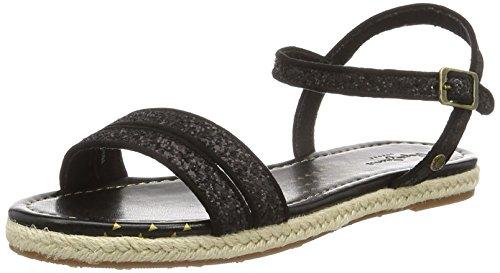 Pepe Jeans London Venize Glitter, Sandalias para Mujer Negro (Black)