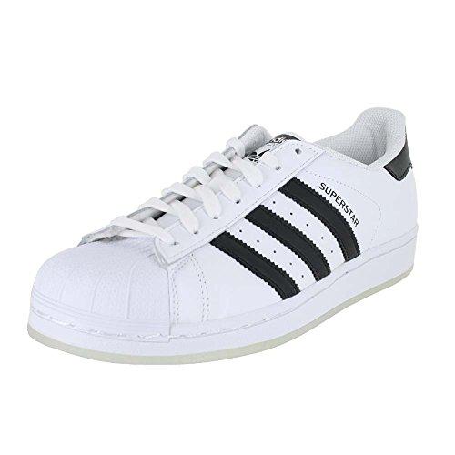 Scarpe Da Uomo Adidas Mens Superstar Bianco Nero Ghiaccio Taglia 8