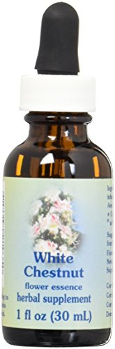 Flower Essence Services Dropper Herbal Supplements, White Chestnut, 1 Ounce For Sale