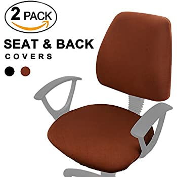 Voilamart Office Chair Seat Covers   Stretchable Universal Chair Covers  Rotating Desk Chair Covers