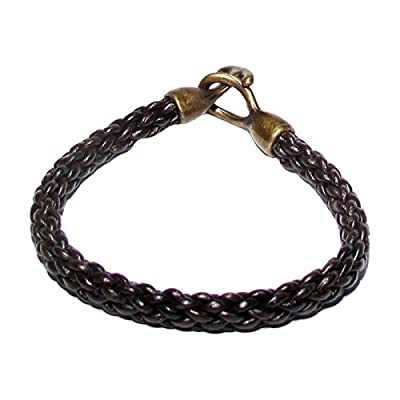 AUTHENTIC HANDMADE Leather Bracelet, Men Women Wristbands Braided Bangle Craft Multi [SKU003048]