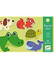 DJECO - Educatieve puzzel Duo dieren (38147)