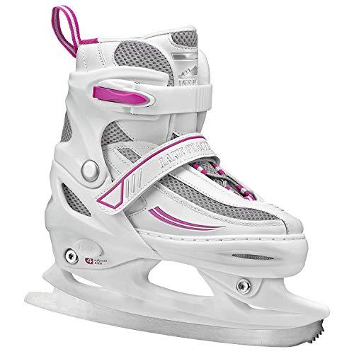 - Lake Placid Summit Girls Adjustable Ice Skate, White/Purple, Small Junior/10-13