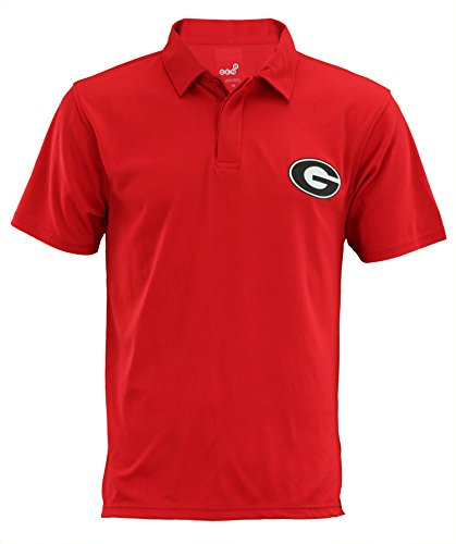 Outerstuff Georgia Bulldogs NCAA Mens Short Sleeve Performance Polo, Red Small