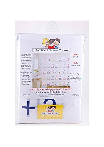 Amazon.com: Educational Shower Curtain   Addition Facts: Home U0026 Kitchen