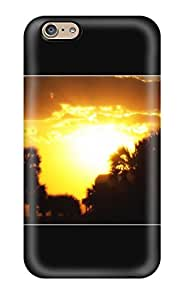 Waterdrop Snap-on Beautiful Sunset Destin Florida Palm Trees Skyline Yellow Light Black Nature Other Case For Iphone 6