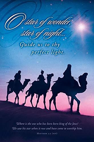 amazon com o star of wonder christmas church bulletin 11 in