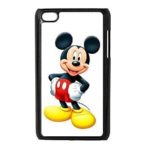 Mikey Mouse 001 funda iPod Touch 4 caja funda del teléfono celular negro cubierta de la caja funda EOKXLKNBC25929