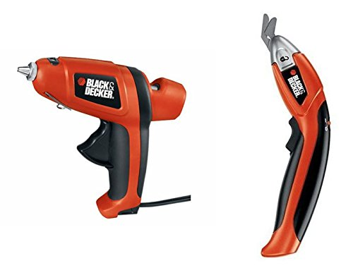Black and Decker Powered Scissors and Cord Free Glue Gun Kit.