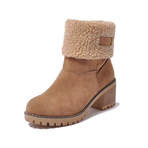 Starttwin Ankle Boots Women Autumn Winter Leisure High-top Wear-Resisting Snow Boots ()