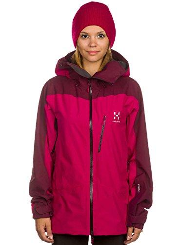 Mujer Snowboard Chaqueta Haglã ¶ Fs NIVA Jacket, color Rosa - volcanic pink/aubergine, tamaño XS Rosa - volcanic pink/aubergine