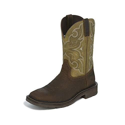 Justin Mens Stampede Amarillo Work Boots 85EE (Justin Boots Stampede Womens)
