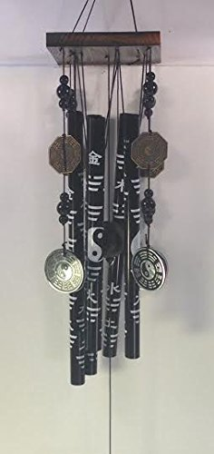 Black Windchime with Yin Yang and Bagua Coins for Feng Shui Review